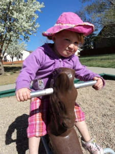 I only play outside when I can ride ponies and the temp is above 60 degrees.