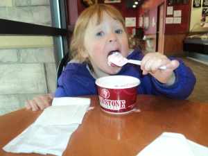Taking my niece out for ice cream.