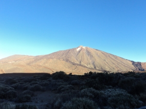 El Tiede National Park. The third park in the world to become a national park. Also, this volcano is the highest point in Spain.