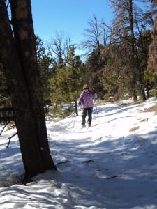Mom rockin' it on her skis