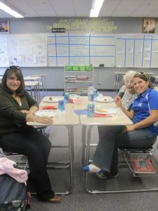 Picnicking in my classroom back in 2010 with my Aunt, Nana, Sister and niece. I don't have a shoe on because I had a broken foot.